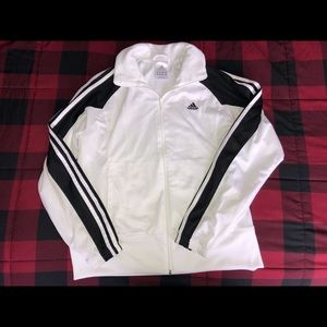 Adidas Mesh Zip Up Track Jacket